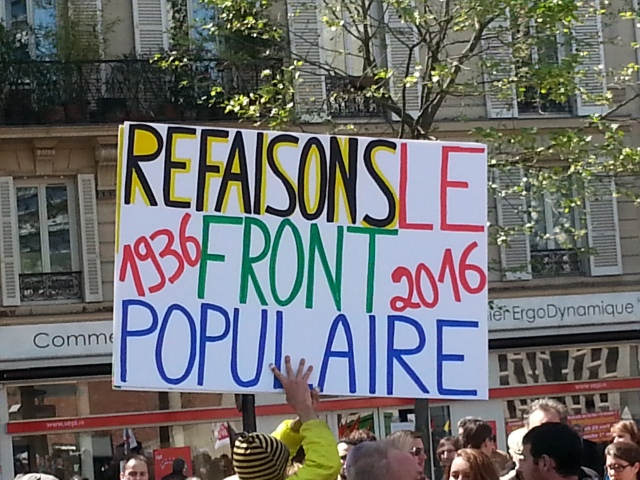 1936, 2016, refaisons le front populaire [1936, 2016, let's rebuild the popular front]