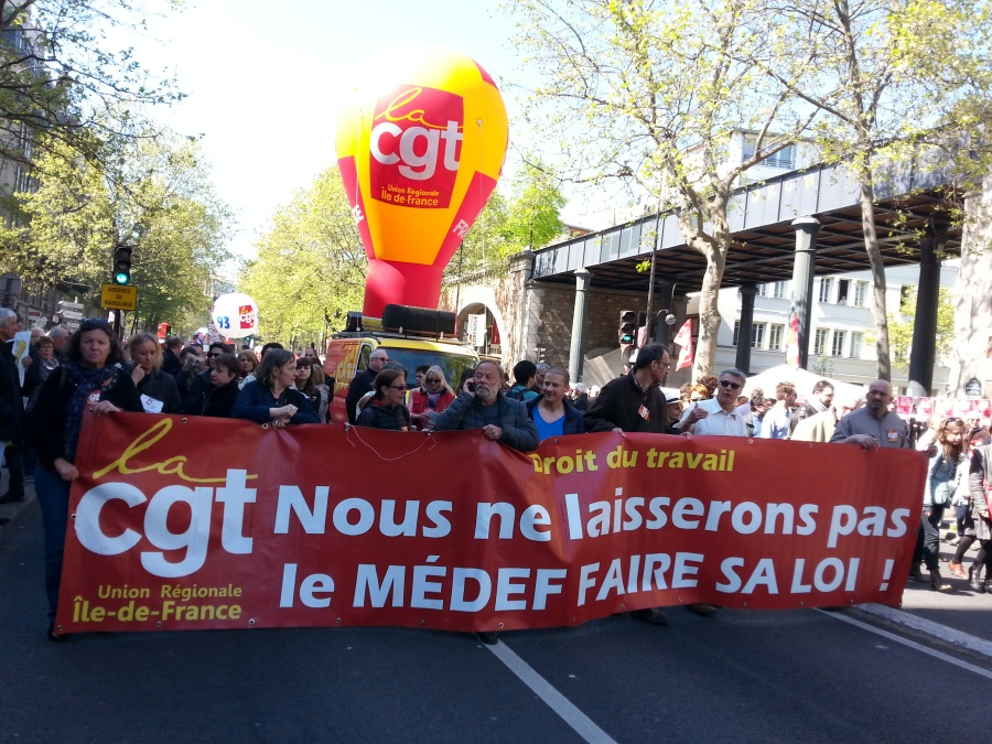 Droit du travail, nous ne laisserons pas le MEDEF faire sa loi, URIF CGT [Work law, we won't let the MEDEF impose its rule, URIF CGT]