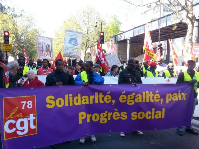 Solidarité, égalité, paix, progrès social, CGT 78 [Solidarity, equality, peace, social progress, CGT 78]