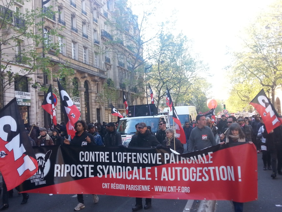 Contre l'offensive patronale, riposte syndicale, autogestion, CNT [Against the offensive of the bosses, trade-union counterattack, self-management, CNT]