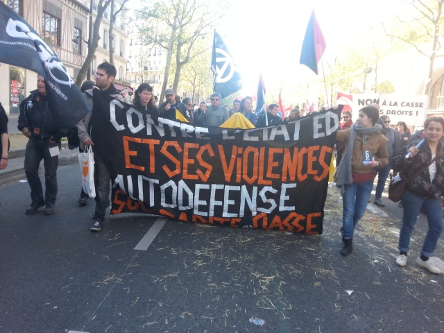 Contre l'état et ses violences, autodéfense, solidarité de classe, CGA [Against the state and its violences, self-defense and class solidarity, CGA]