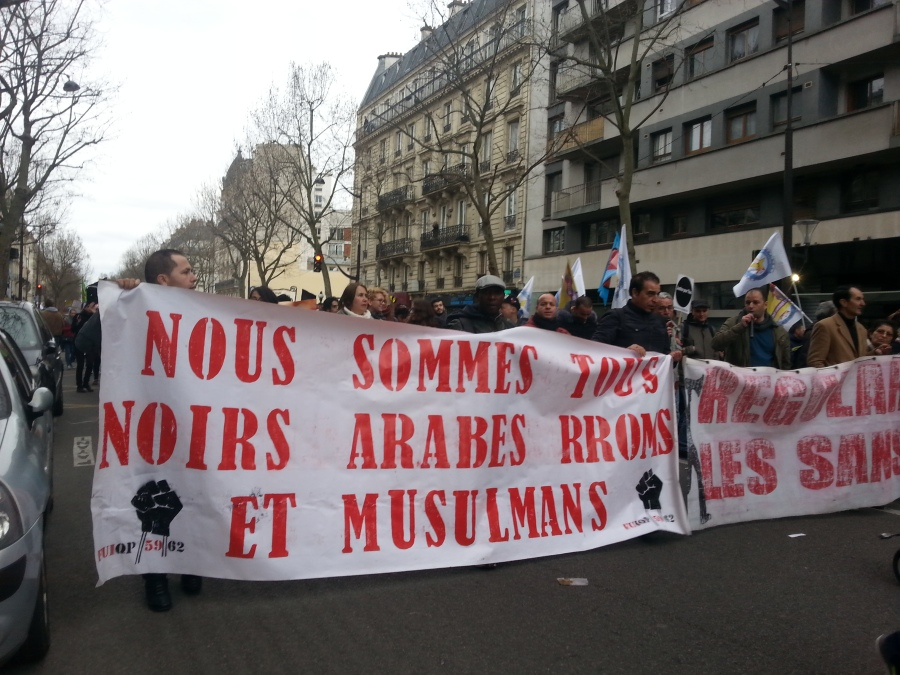 Nous sommes tous noirs, arabes, rroms et musulmans, FUIQP [We're all black, arab, rrom and muslim, FUIQP]