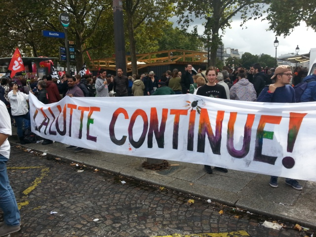 La lutte continue [The struggle goes on]