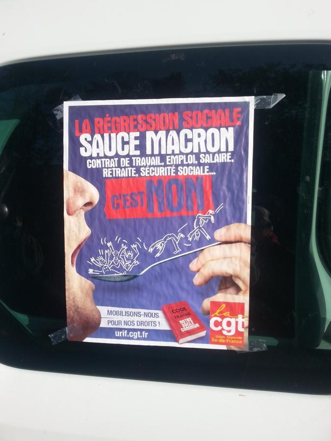 La régression sociale sauce macron, CGT Île-de-France [Social relapse Macron sauce]