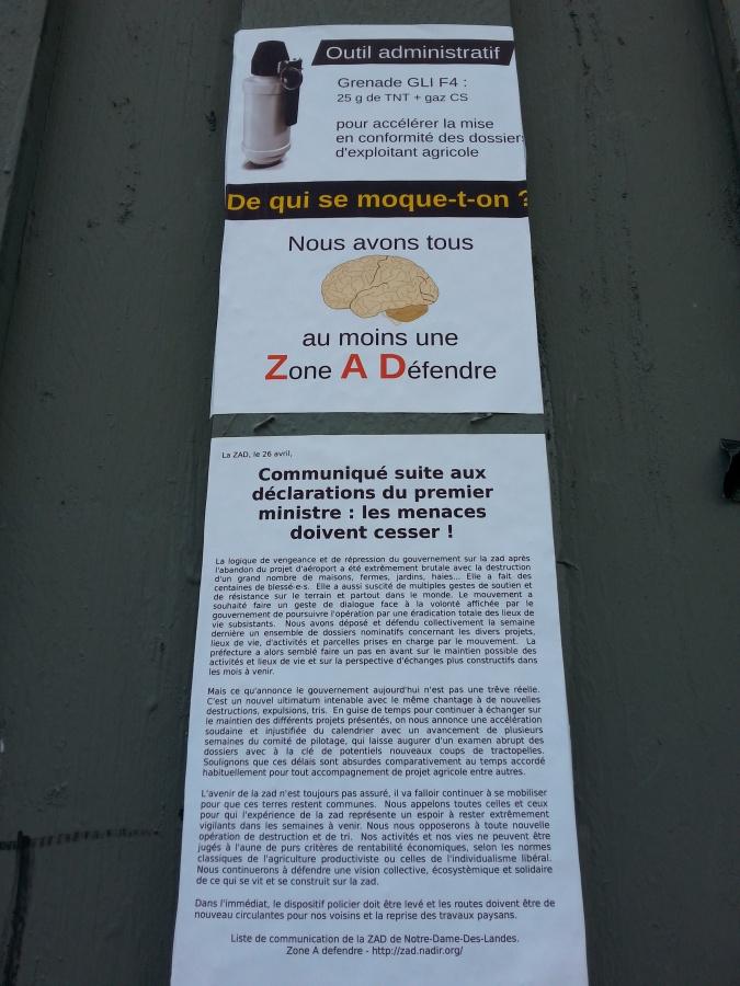 Zone à défendre Notre Dame Des Landes [Zone to defend Notre Dame Des Landes]