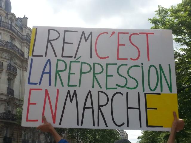 LREM c'est la répression en marche [LREM means repression in operation]