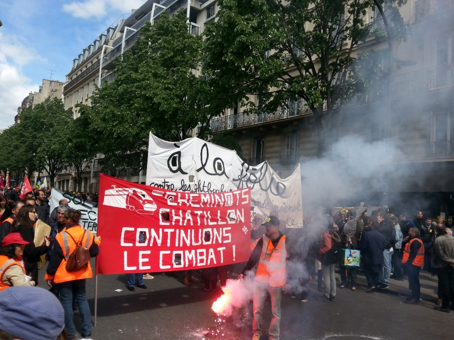 Continuons le combat, cheminots de Chatillon [Let's go on the fight, railway workers of Chatillon]