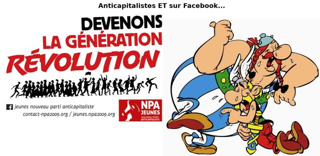 Anticapitalistes et sur Facebeurk, créé de Julien Gouesse [Anticapitalists and on Facebeurk, created by Julien Gouesse]