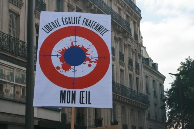 Liberté, égalité, fraternité, mon œil [Freedom, equality, fraternity, my eye]